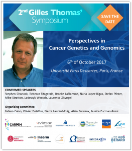 Save the date - 2nd Sympo Gilles Thomas